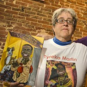 Kimberly and her work, from Baltimore City Paper (2015)